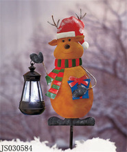 2016 New Christmas decoration, Christmas deer stick with solar lantern