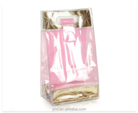 Promotional Clear PVC Toiletry Packing Foldable Tote Bag