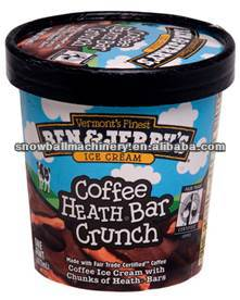 18 oz/500 ml disposable ice cream paper tub with lid