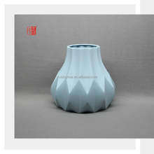 Popular Design Chinese Blue Color Clay Big Ceramic Pottery Vases