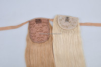 Sample/Small order available beauty shape new arrival extension ponytail hair bundle with sot lace