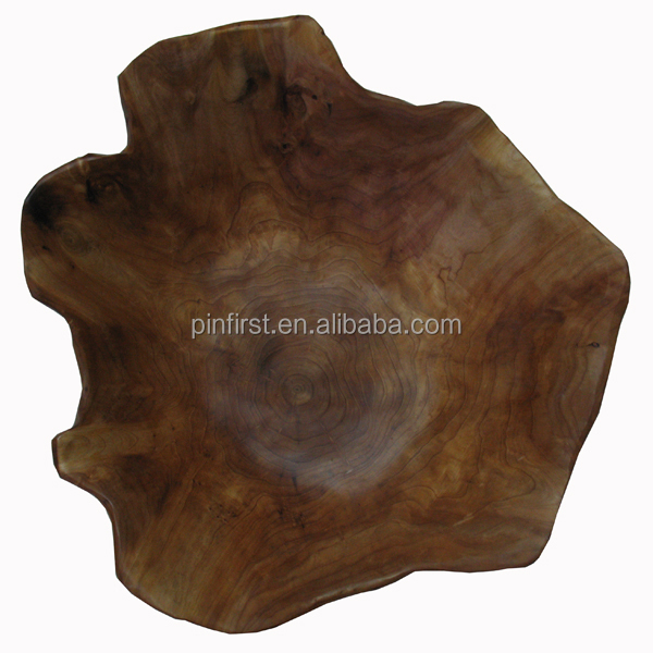 Hot selling Antique Carved Irregular Handmade Wooden Plates