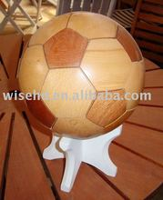 (W-BS-210) wooden football, wood accessories