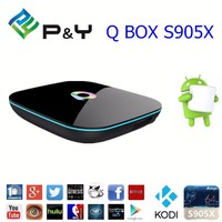 Wholesale price firmware update amlogic S905X Q BOX android tv box keyboard wireless for 2G 8G Q BOX s905x