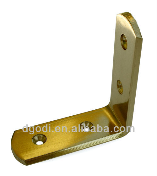small l bracket brass corner brackets