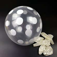 12 Inch Transparent balloon 50pcs/lot Latex balloon white Polka Dots Balloon Party Decoration Free Shipping