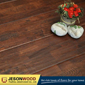 Solid oak fingerjoint hardwood flooring handscraped surface