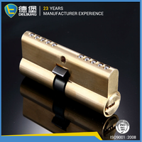 Brass emovable double cylinder lock for lockers
