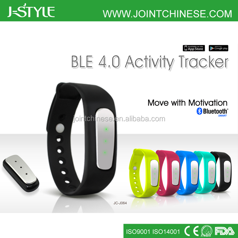 j-style 2014 fashion design silicone wrtstband fitness Bluetooth 4.0 silicone jawbone up pedometer