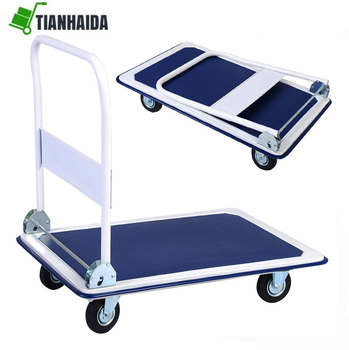 Warehouse Platform Trolley , Cheap Stainless Steel Folding Heavy Duty Platform Hand Truck