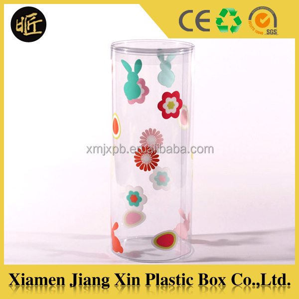 Good quality PVC/PET plastic tube packaging,clear earphone packaging tube
