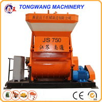 Hot sale JS750 twin shaft forced concrete mixer