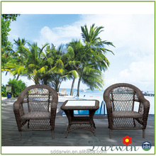 New Model Outdoor Garden Sets Round Rattan Chair Set & Coffee Tables