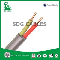2 core low voltage pvc insulared copper 1.5mm2 electrical cable