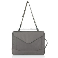 "15"" laptop sleeve with shoulder and side handle for men"