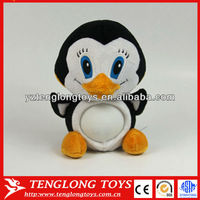 Lovely LED color changing night light stuffed plush penguin