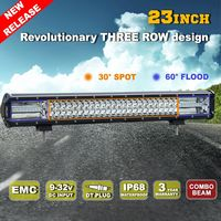 Liteway 216w 23inch Offroad 3 Row Led Light Bar with Bottom Mounting