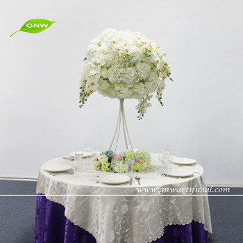 GNW 4ft high wedding decoration centerpieces with artificial flowers for wedding table decoration