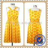 Fashion Dot Pattern Lovely Yellow Girl Summer Dress