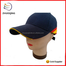 Custom design long bill baseball cap with sandwich and splicing