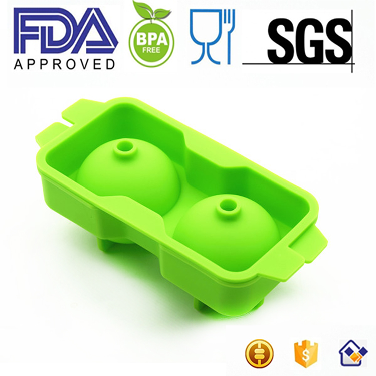 silicone round ice ball shaped fancy ice cube tray