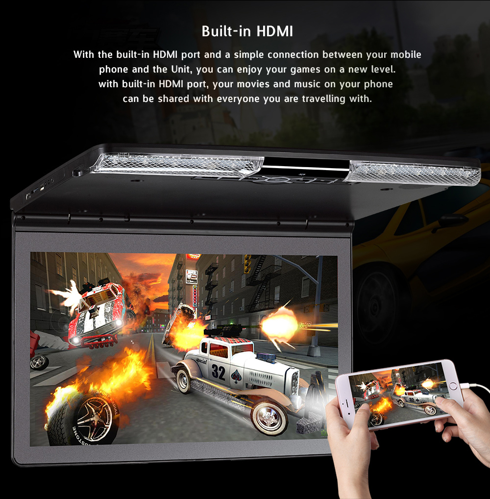 12v 1080p 17inch/14 inch car lcd monitor /15 inch in dash car tv monitor