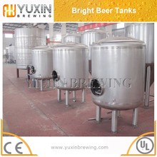 good standard industrial brewery equipment,1000L 2000L 3000L bright beer tank,mini brewing beer plant