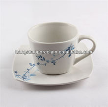 ceramic cup and saucer/plain white coffee cups and saucers