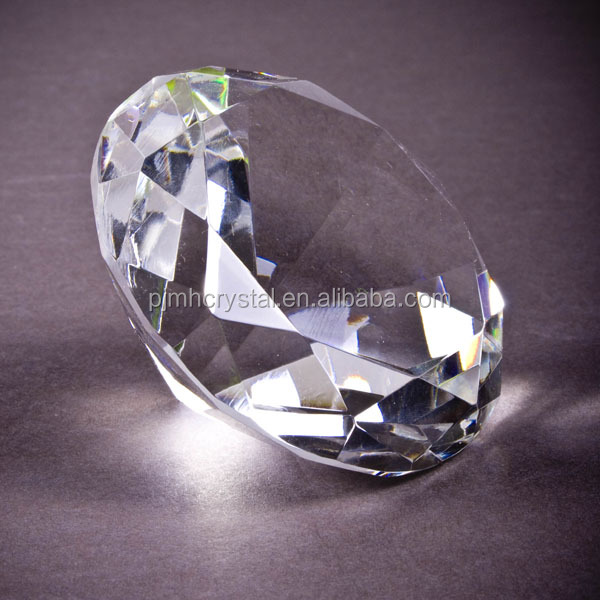 Hot sale wholesale shining clear crystal diamond paperweight as wedding table gifts or anniversary MH-ZS0022