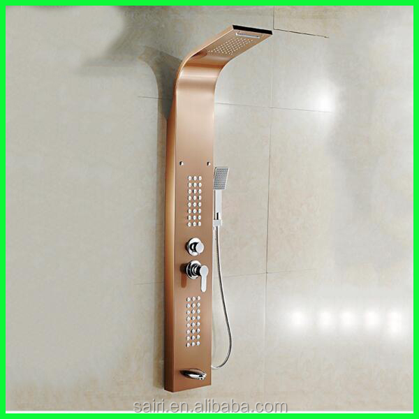 Rain Massage System Faucet Aluminum Rainfall Shower Panel
