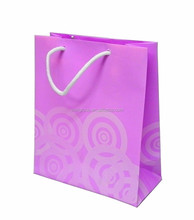 Luxury shopping kraft paper bag with cotton rope handle