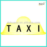 Yellow or white taxi top lights