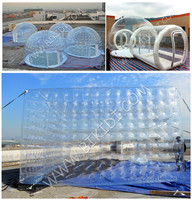 Best price high quality attractive clear bubble inflatable lawn tent