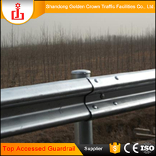 Alibaba golden supplier w beam road barrier highway guardrail reflector