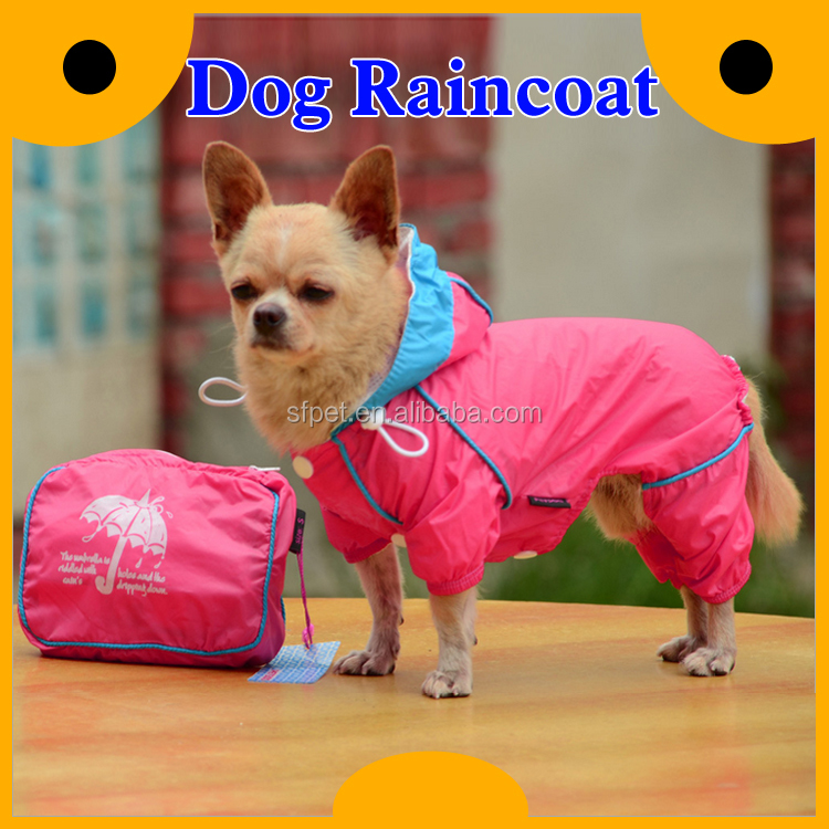 Carrying Pouch 2-layer Pet Doggie Hooded Raincoat