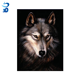 2018 Christmas decorative 3d painting picture of animal wolf