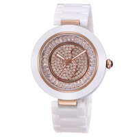 High end womens ceramic band stones dial sr626sw quartz japan movt watch