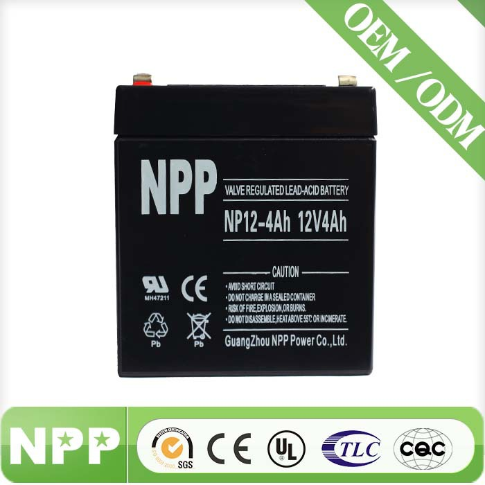 12V4AH battery storage rechargeable battery cell for photovoltaic battery