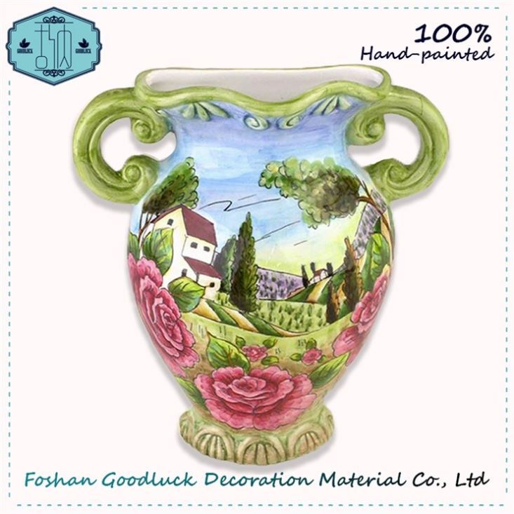 Hot Sale Hand Draw Ceramic Wall Hanging Cheap Small Flower Vases