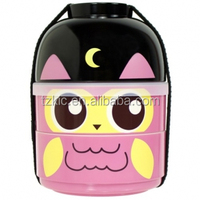 cutezcute bento box 2 tier Baby Night Owl bento box