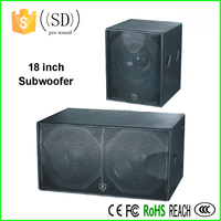 "dual 18"" speaker box big bass subwoofer speakers wooden speaker"