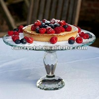 popular wedding table crystal cake stand