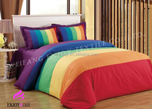 7 colour energy satin stripe used duvet cover/pillow case/hotel bed linen