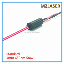 Standard D4X10mm 650nm 5mW Red Laser Dot Diode Module Industrial Grade APC Driver