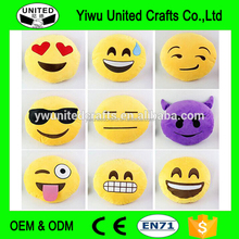 Funny Cute Emoji Pillow Plush Cushion Round Cushion Emotions Smiley