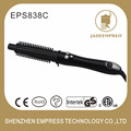 New design 4 in 1 LCD display electric rotating straightening hair brush and automatic hair curler EPS838C