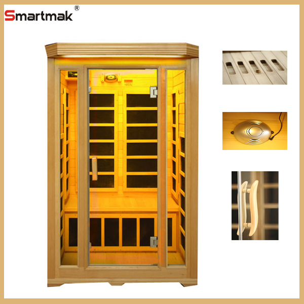 Far infrared sauna room outdoor with USB radio