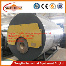 Horizontal and industrial 10ton 3 pass oil gas fired steam boiler