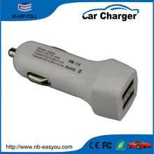 universal fast charge 2 port usb phone car charger/dual usb car charger 5V 2.1A ipod car charger