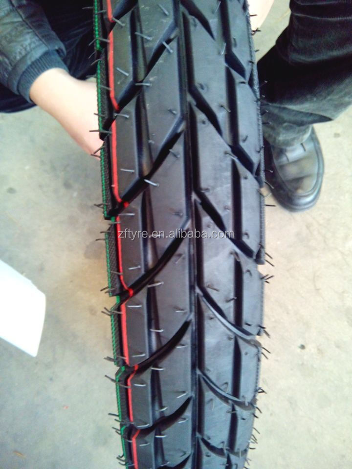 Tubeless motorcycle tyre and inner tube 110 90 16